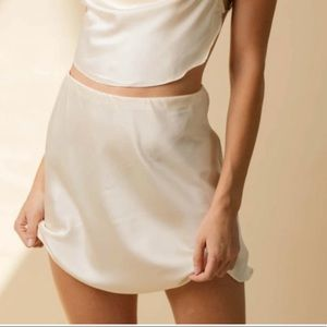 Pearl Satin Skirt